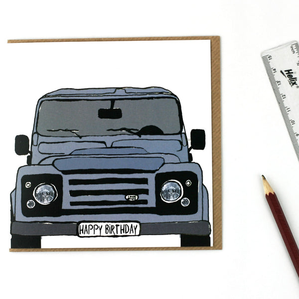 Land Rover Defender Birthday Card