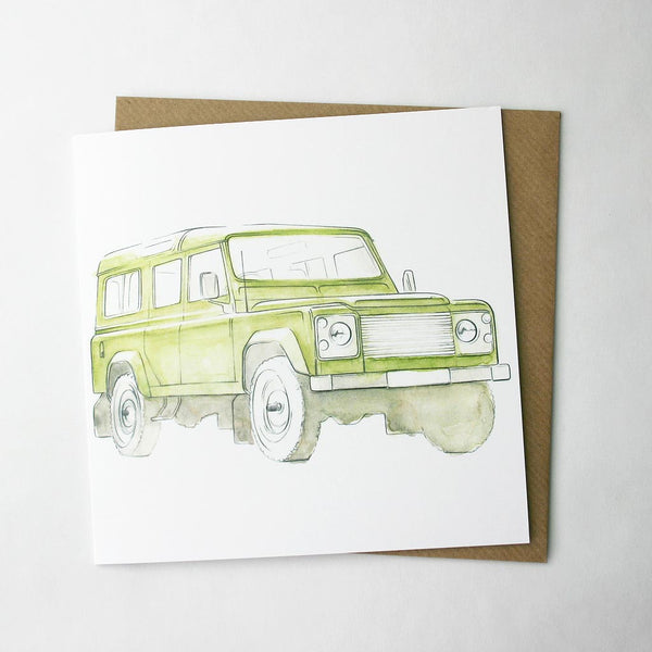 Land Rover Defender Green Card