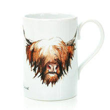 Load image into Gallery viewer, Highland Cow Hairy Coo Porcelain Mug | Artist, Clare Baird