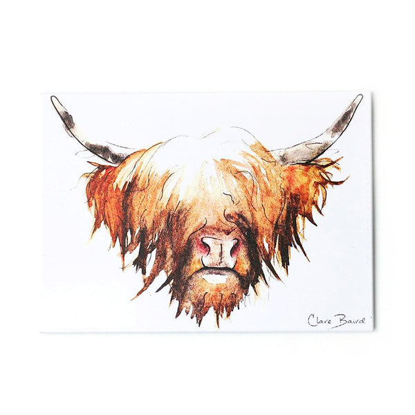 Highland Cow Hairy Coo Fridge Magnet | Artist, Clare Baird