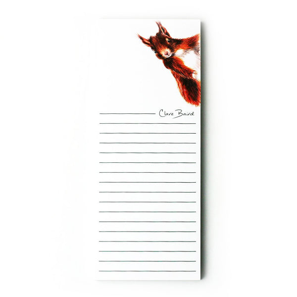 RED SQUIRREL MAGNETIC NOTEPAD