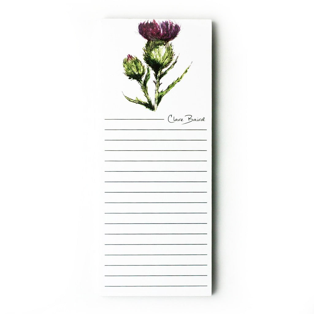 scottish thistle flower magnetic memo pad