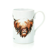 Load image into Gallery viewer, HIGHLAND COW PORCELAIN MUG