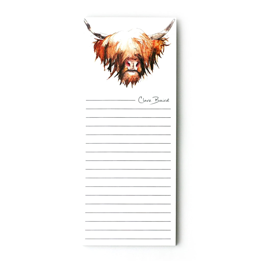 HIGHLAND COW MAGNETIC NOTEPAD