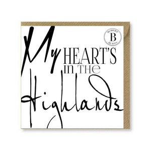 My Heart's in the Highlands Card