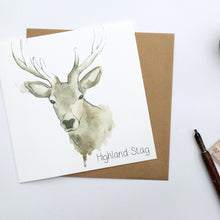 Load image into Gallery viewer, Scottish Highland Stag Greetings Card | Artist, Clare Baird