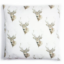 Load image into Gallery viewer, Scottish Highland Stag Cotton Cushion | Artist, Clare Baird