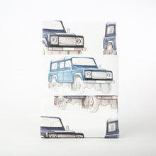 Load image into Gallery viewer, LAND ROVER NAVY PATTERNED TEA TOWEL
