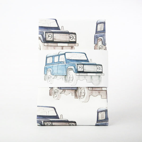 Land Rover Patterned Tea Towel - Navy