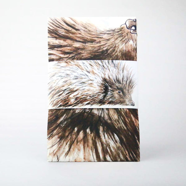Hedgehog wildlife Design Cotton Tea Towel | Clare Baird