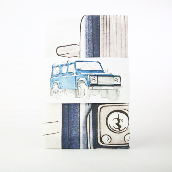 LAND ROVER NAVY TEA TOWEL