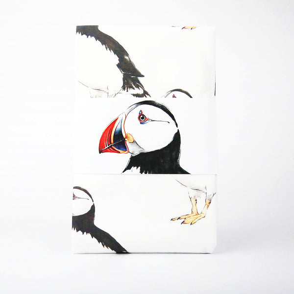 PUFFIN PATTERNED TEA TOWEL