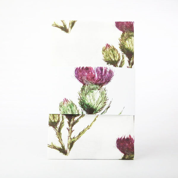 scottish thistle flower gifts tea towel