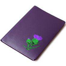 Load image into Gallery viewer, LARGE A5 PURPLE BRAE LEATHER JOURNAL