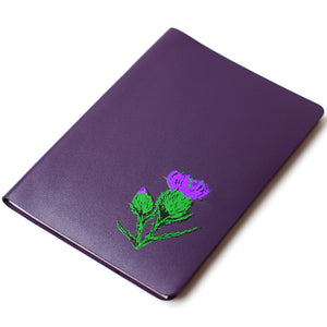 LARGE A5 PURPLE BRAE LEATHER JOURNAL