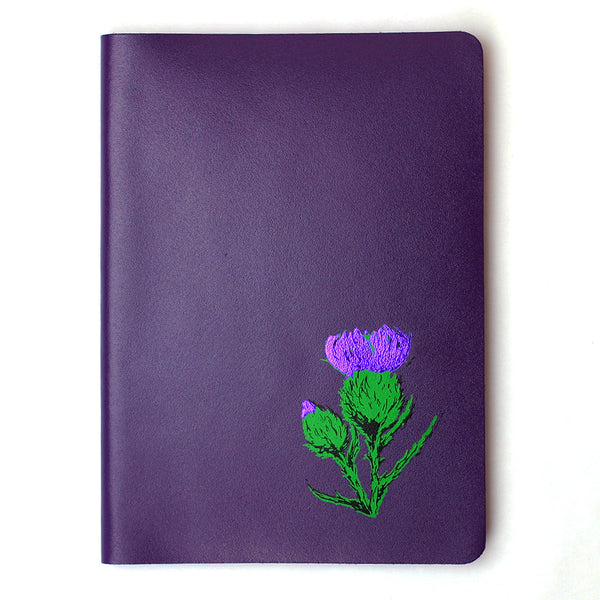 Real Leather Journal - Purple Brae - Large - A5