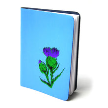 Load image into Gallery viewer, A6 SKYE BLUE SMALL LEATHER JOURNAL