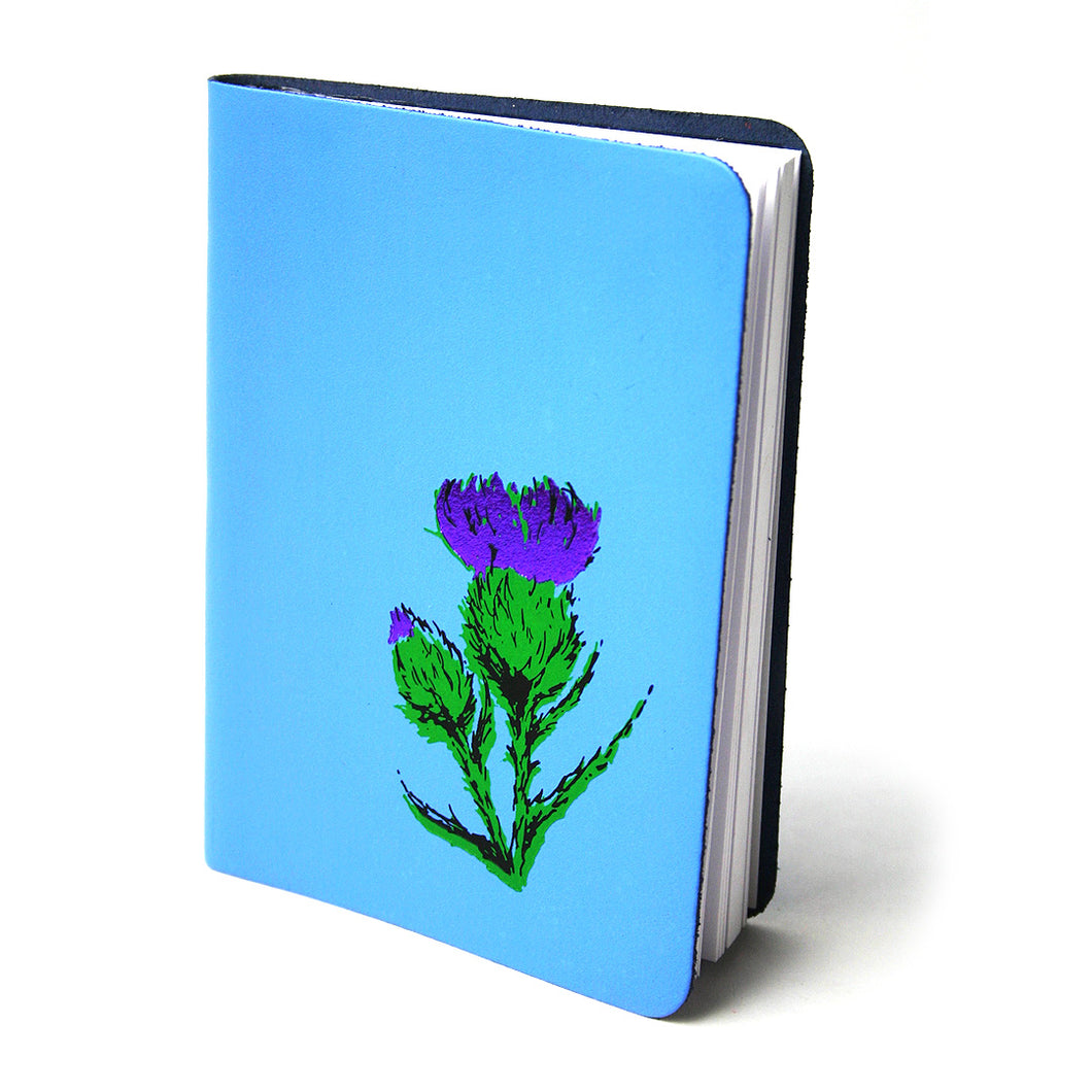 A6 SKYE BLUE SMALL LEATHER JOURNAL
