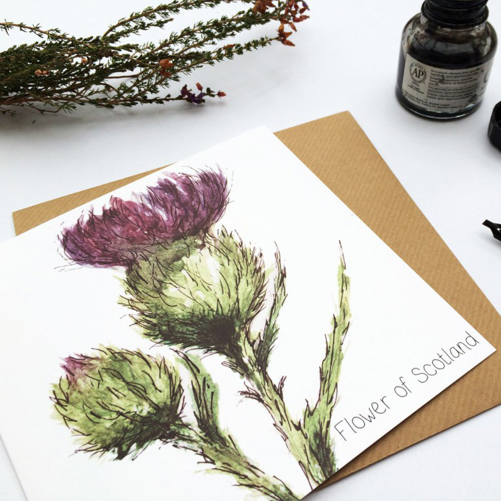 THISTLE - FLOWER OF SCOTLAND CARD