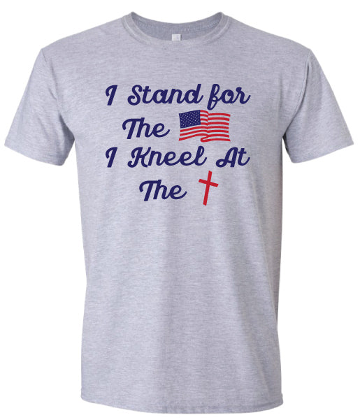 I Stand for the Flag I Kneel for the Cross Sweatshirt Patriotic