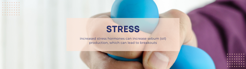 STRESS - increased stress hormones can increase sebum (oil) production, which can lead to breakouts