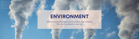 ENVIRONMENT - temperature changes and humidity can weaken the skin's protective barrier