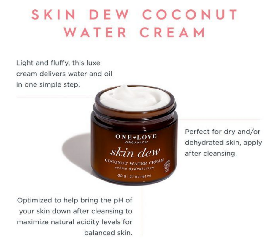 One Love Organics: Skin Dew Coconut Water Cream