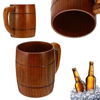 300ML Retro Wood Drink Barrel Mug
