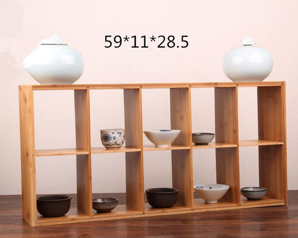 3 Tier bamboo storage holders sundries racks cup holder