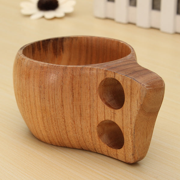 150ml Double Holes Cup Environmental Milk Coffee Wooden Cup