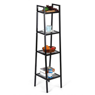 4 Tier Ladder Bookcase Storage Shelves And Display Standing