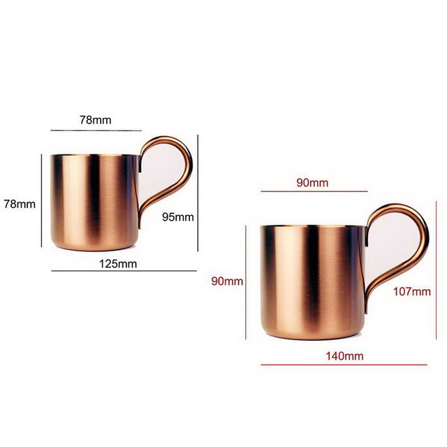 300ML/500ML Copper plated Stainless Steel Moscow Mule Mug