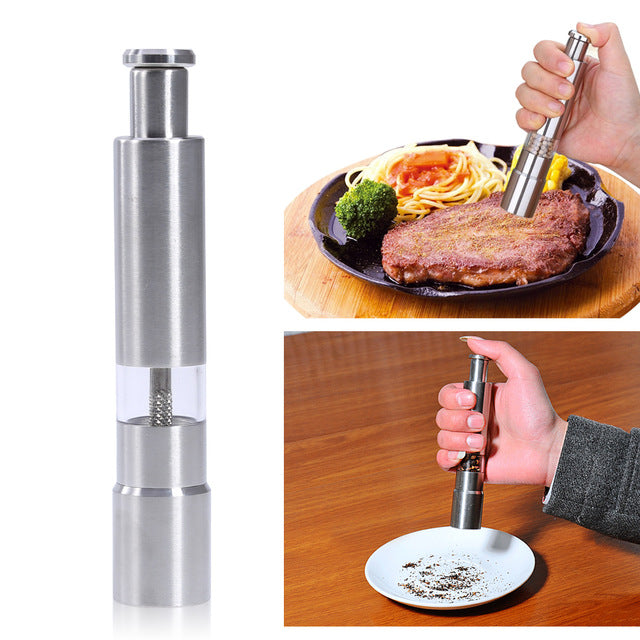 Hand Pepper Mill Salt And Pepper Grinder Hand Shaker Stainless Steel Peppers Grinder