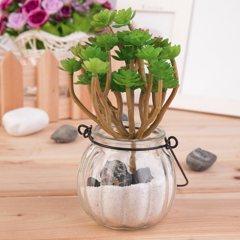 New Arrival Creative Green Artificial Faux Mini Succulent Plant