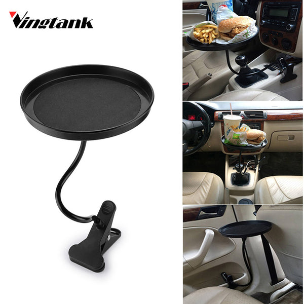 Universal Car Food Drink Cup Tray  Coffee Table round Table rotating Car Mount Tray
