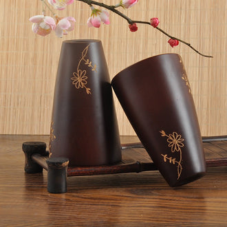 Natural Wooden Cup Beer Milk Coffee Tea Cup