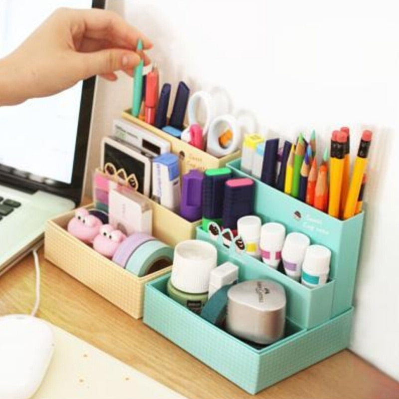 Paper Board organise Box Desk Decor Stationery Makeup Cosmetic Case Organizer