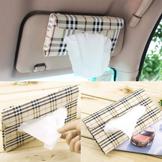 PU Leather Car Tissue holder Paper napkin clip
