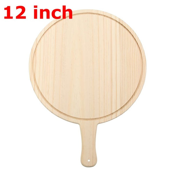 Wooden Round Pizza board Round with Handle