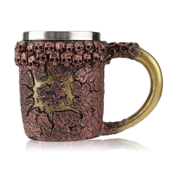 450ML 3D Skull Mug Double Wall Stainless Steel