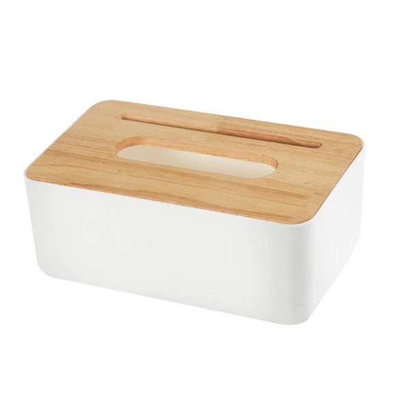 Wooden Tissue Box Home Tissue Container Towel Napkin Tissue Holder