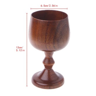 Vintage Handmade Wooden Wine Goblet Drinking Cup