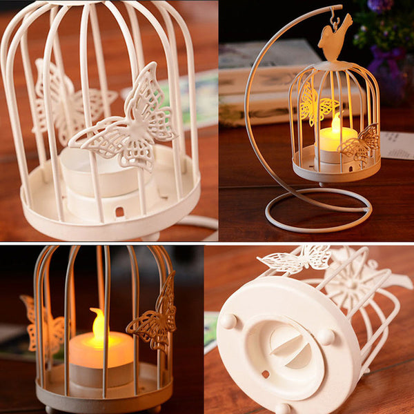 Vintage Candle Holders Candelabro Bird Cages