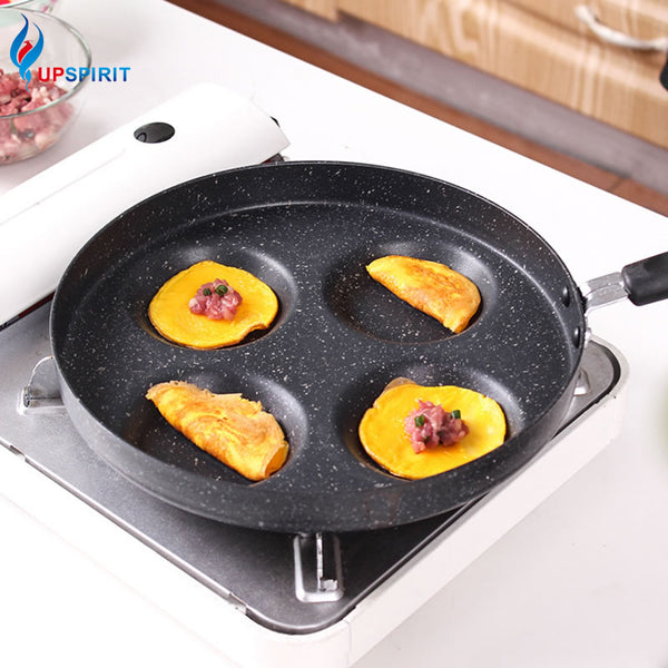 Compartment Frying Non Stick Pan with Plastic Handle