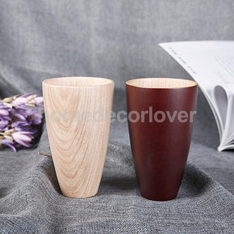 Wooden Cup Handmade Coffee Tea Beer Juice Milk Mug  13x8cm 2 Colors