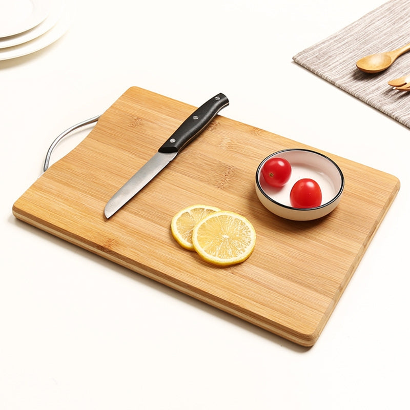 Natural Bamboo Rectangle Chopping Cutting Board For Meat Vegetable Fruit Bread