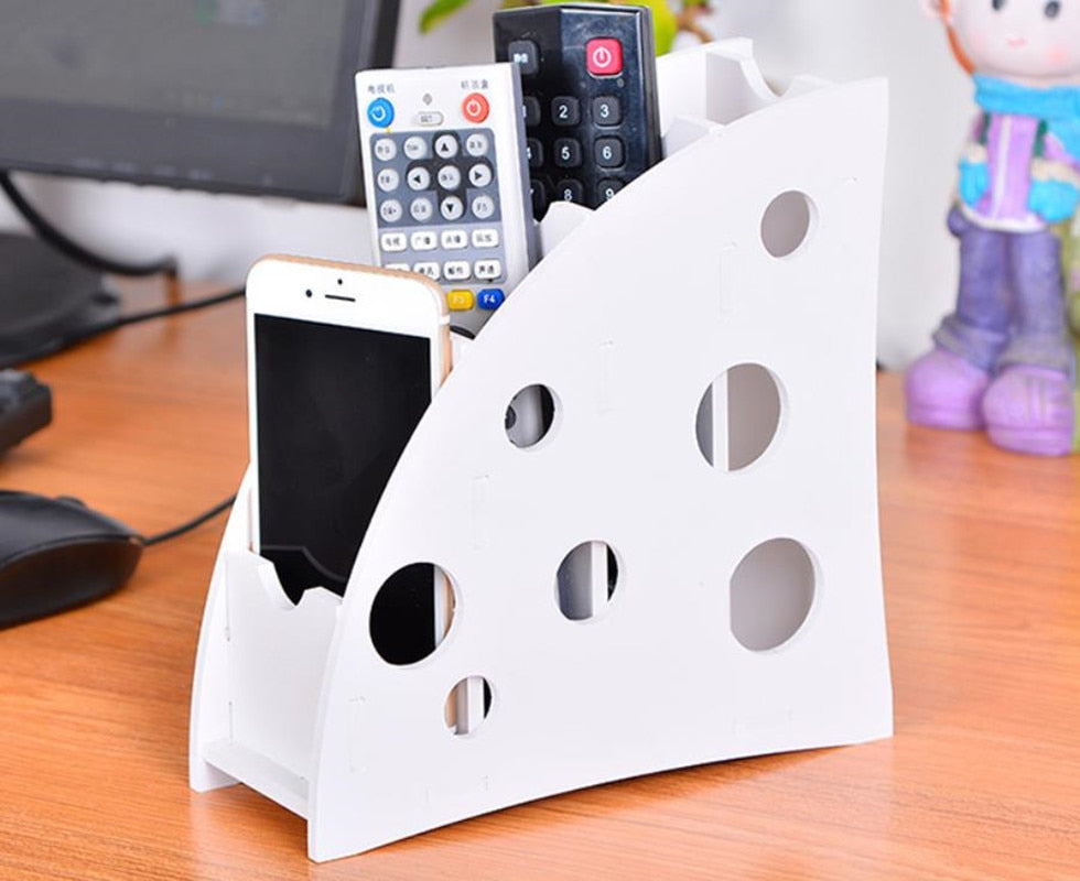 Plastic Household Organiser Remote Control pen Stand Holder Home Office