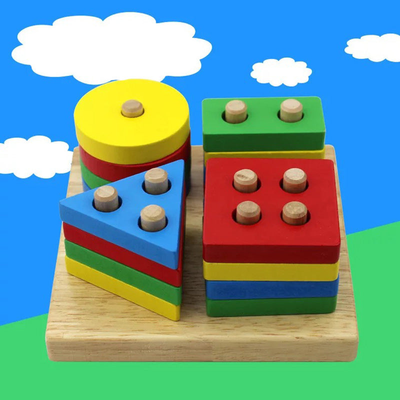 Wooden Blocks Shape Jointed Board Educational Toys