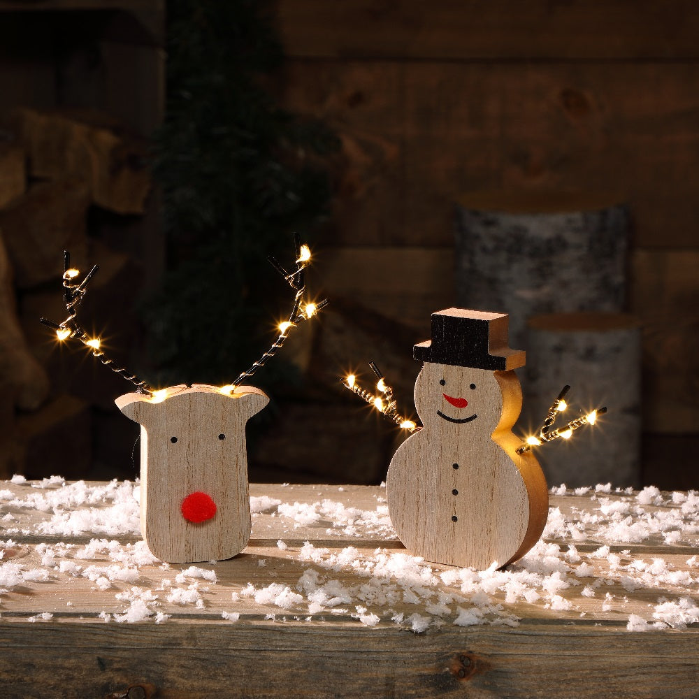 Light Up Reindeer & Snowman