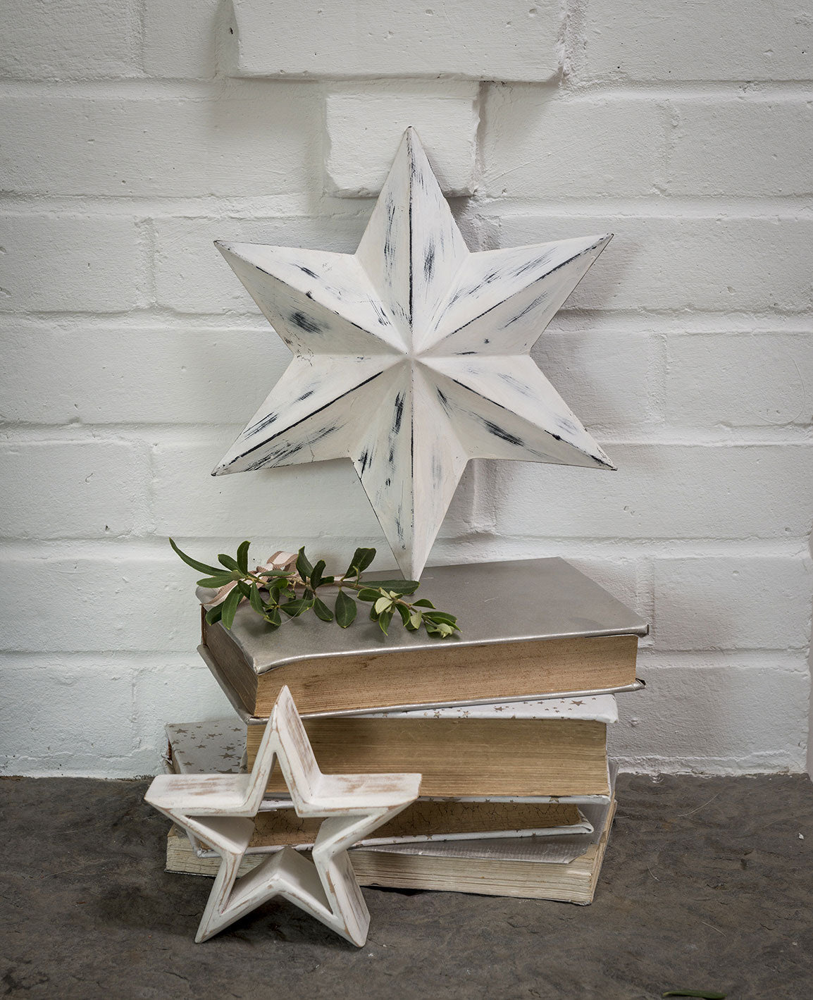 Metal Wall Star - White